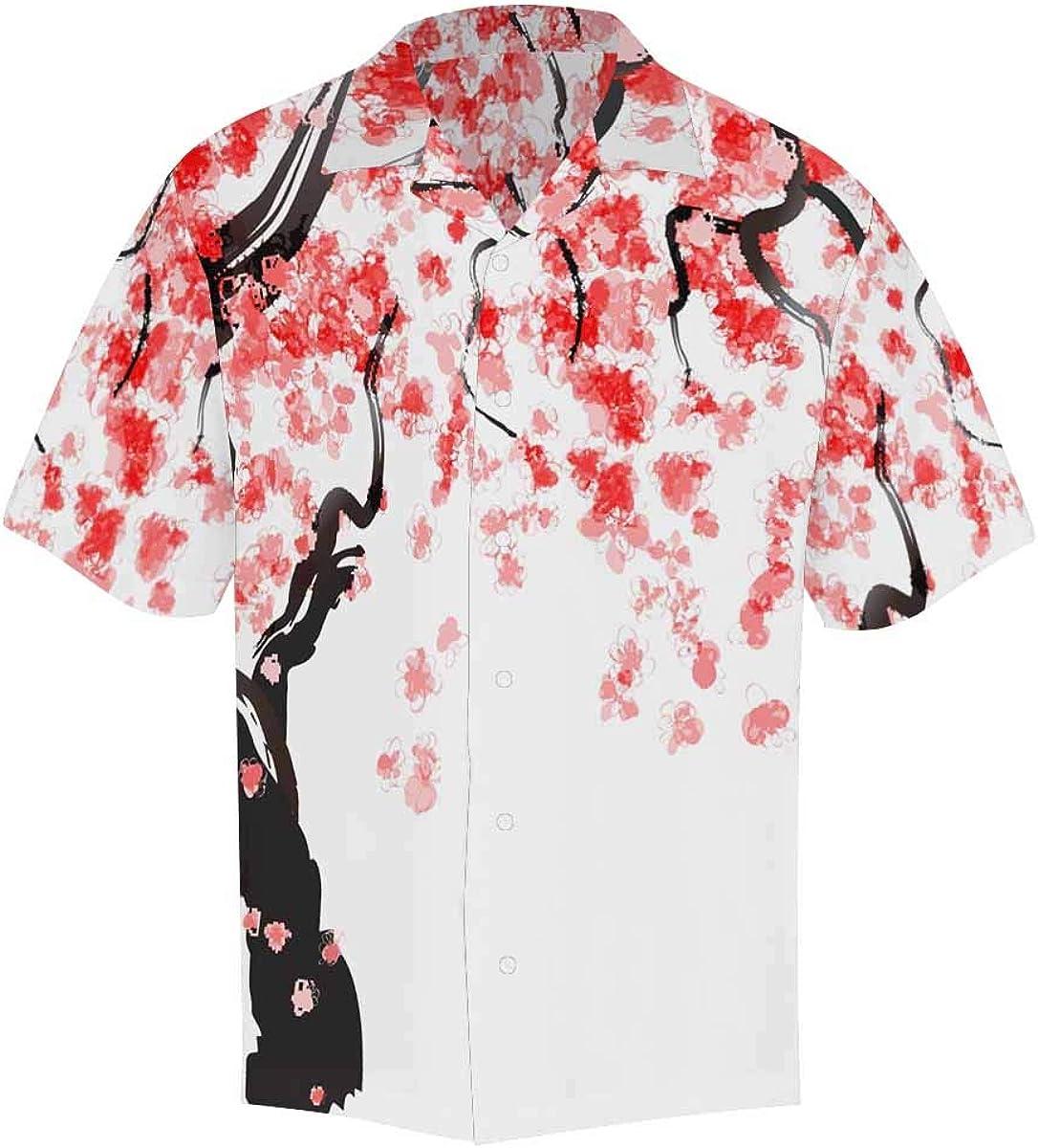 InterestPrint Casual Button Up Sports Basketball Short Sleeve Summer T Shirt