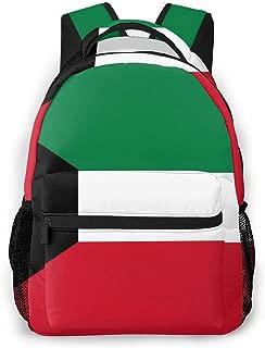 Unisex Backpack Flag of Kuwait Bookbag Lightweight Laptop Bag for School Travel Outdoor Camping
