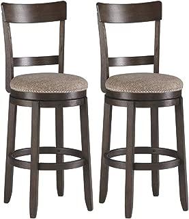 Ashley Furniture Signature Design - Drewing Bar stools - Bar Height - Open Back - Set of 2 - Brown