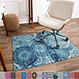 Anji Mountain Chair Mat Rug'd Collection, 1/4' Thick - For Low Pile Carpets &...