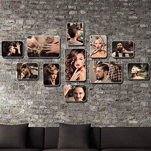 La pintura de es mediante una combinación de peluquería Cuadro Shop-Rascador para marco de fotos estilo pared Foto Frame 8Escaleras betroffen.