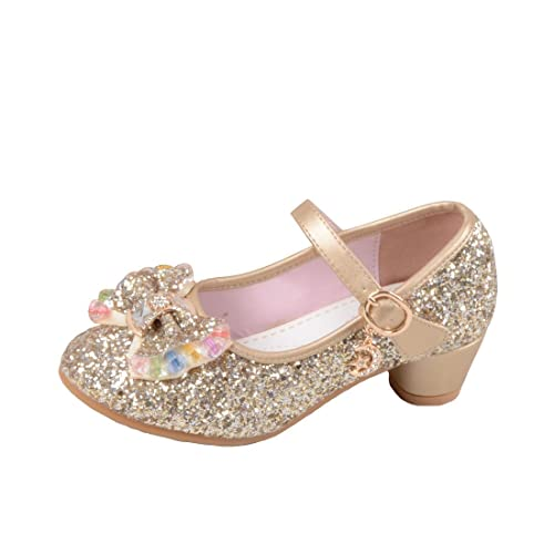 3aa1fc8df19a YIBLBOX Kids Girls Mary Jane Wedding Party Shoes Glitter Bridesmaids Low Heels  Princess Dress Shoes