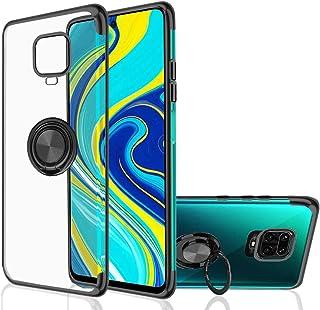 حافظة هاتف ريدمي نوت 9 اس/ نوت 9 برو، [مع حامل حلقي يدور 360 درجة] شفافة للغاية [لون معدني مطلي بالكهرباء] غطاء مصنوع من ا...