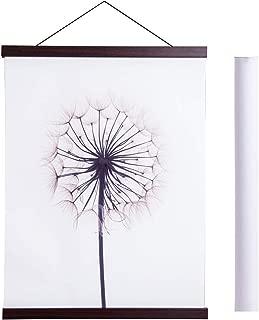Magnetic Poster Hanger Frame, 20x28 20 x 30 20x26 Light Wood Wooden Magnet Canvas Artwork Print Dowel Poster Hangers Frames Hanging Kit (Walnut, 20