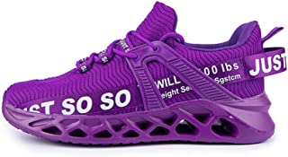 SONGJOY Hardloopschoenen, vliegengeweven, zeer elastisch rubber en kunststof, holle bodem, heren, loopschoenen, 3D-mes met...