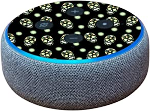 MightySkins Skin Compatible with Amazon Echo Dot (3rd Gen) - Nighttime Skulls   Protective, Durable, and Unique Vinyl Decal wrap Cover   Easy to Apply, Remove, and Change Styles   Made in The USA