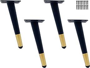 GWFVA 4 rechte kegel metalen tafelpoten, DIY meubels voeten kunnen worden gebruikt voor bank TV kast etc. Vier meubelpoten...