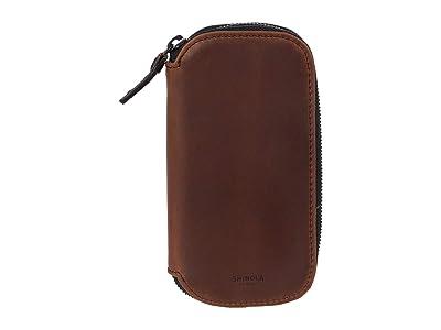 Shinola Detroit Travel Watch Case (Medium Brown) Handbags