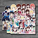 Anime Rent A Girlfriend Stickers Cute Anime Girls Sticker For Laptop Skateboard DIY Toys Decals Motorcycle Guitar 50Pcs