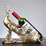 YYHSND Casier à vin Golden Peacock Artisanat Moderne 36 X 15 X 32CM Casier à vin