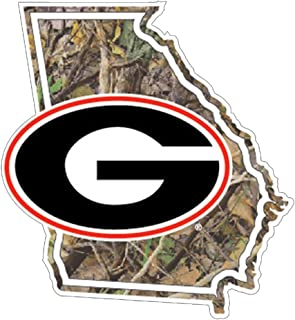 Georgia Bulldogs Camo State Outline w/Georgia G Decal