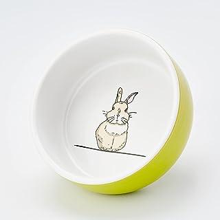 "Nobby Ceramiczna miska""Rabbit"" zielona/biała Ø 11 cm x 4,5 cm"