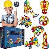 リミーズ 磁石ブロック ブロックおもちゃ マグネットブロック 知育パズル 立体 74ピース 右脳教育 脳トレ 知育玩具 乗り物 おもちゃ 子供 プレゼント 男の子 女の子 幼稚園 小学生 入園 入学 誕生日 クリスマス STEM教育 自分で学ぶ力 EU玩具安全 基準合格製品 無料遊び方本付き