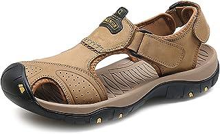 YVWTUC Męskie nowe skórzane buty plażowe oddychające sportowe sandały turystyczne