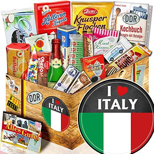 I love Italy / Geschenkidee Italien / DDR Paket mit Süßigkeiten