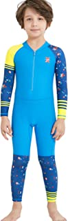 Dark Lightning Kid's One Piece Rash Guards, Full Suit Lycra Swimsuit for Girls and Boys