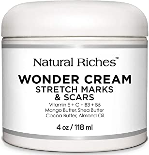 Stretch Marks & Scar Removal Cream, from Natural Riches - 4 oz - 100% Natural, Reduces the.