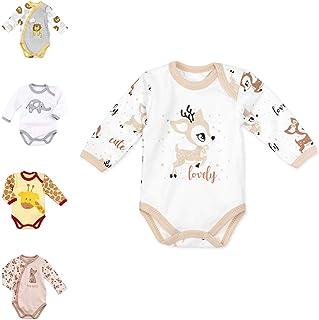 Baby Sweets Unisex Baby Langarm-Body aus Baumwolle als Baby-Erstausstattung für Mädchen und Jungen/Baby-Body-Langarm für Neugeborene & Kleinkinder/Baby-Kleidung verschiedener Größen 0-18 Monate
