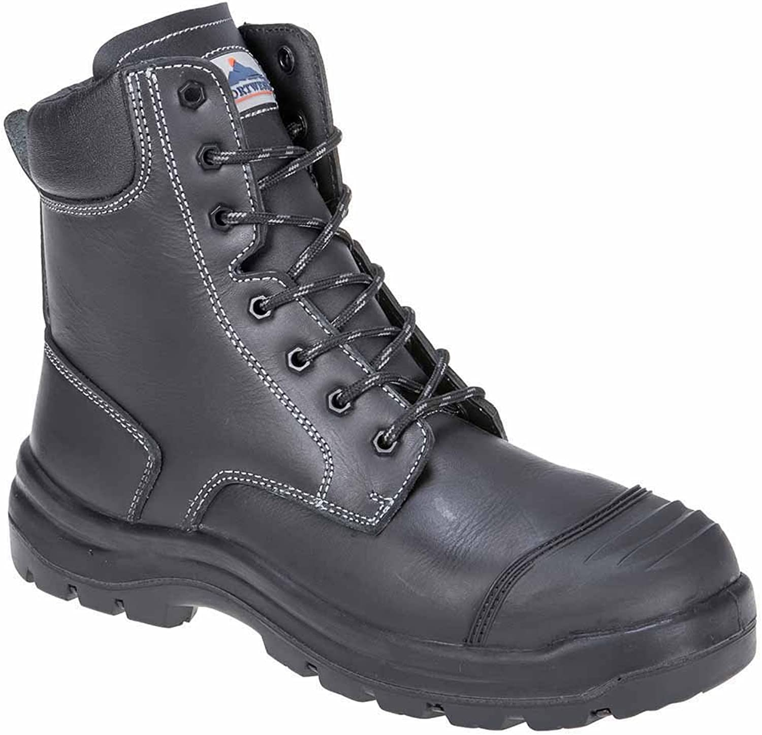 SUw - Eden Work Safety Workwear Ankle Boot S3 HRO CI HI FO - Black - UK 7