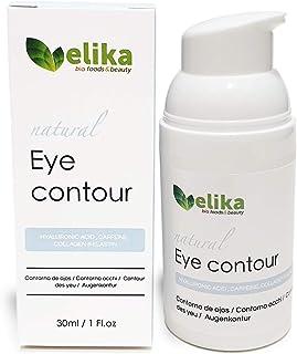 """Contorno de Ojos """"Carlotta"""" de Elikafoods®. Ácido hialurónico cafeína colágeno y elastina. Tratamiento anti-bolsas y oje..."""