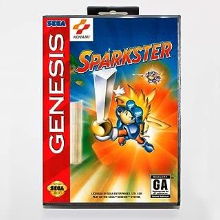 Sparkster 16 Bit Md Game Card Include Retail Box For Sega Genesis & Mega Drive NTSC