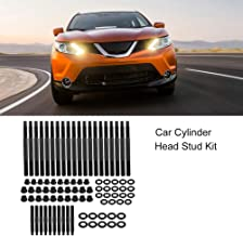 Qiilu Cylinder Head Bolt Set, Car Cylinder Head Stud Kit for Chevrolet LS1 LS3 2004-UP 5.3L 5.7L 6.0L Engines