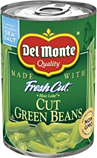 Del Monte Fresh Cut Green Beans, 14 oz Can (Pack of 12)