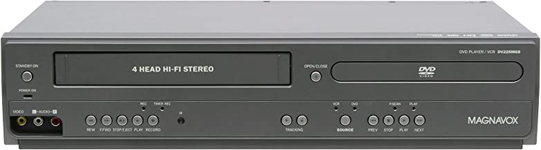 Magnavox DV225MG9 DVD Player and 4 Head Hi-Fi Stereo VCR with Line-in Recording