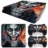 XVSGE PS4 Slim Skin Joker Vinyl Decal Cover for Sony Playstation 4 Slim + 2 Controllers Sticker