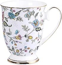 AWHOME Royal Fine Bone China Coffee Mug Assorted colors Tea Cup 11 oz (1, flowers)
