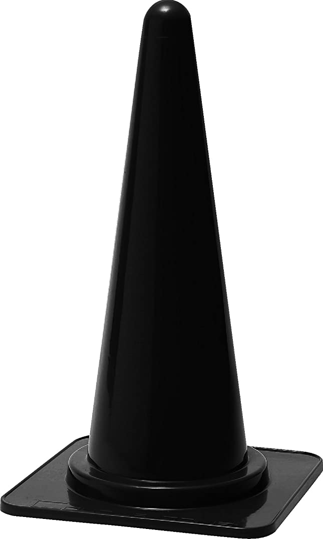病事前永久カラーコーン? 黒 スーパーコーン 700mm 20本セット