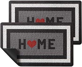 2-Pack HappyTrends 30 x 17 Inch Non Slip Absorbent Doormats