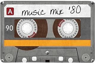 INTERESTPRINT Funny Vintage Cassette Tape Doormat Indoor Outdoor Entrance Rug Floor Mats Shoe Scraper Door Mat Non-Slip Home Decor, Rubber Backing 23.6