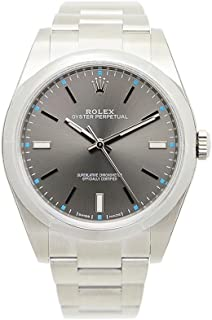 Oyster Perpetual 39 Dark Rhodium Dial Stainless Steel Bracelet Automatic Men's Watch 114300DRSO
