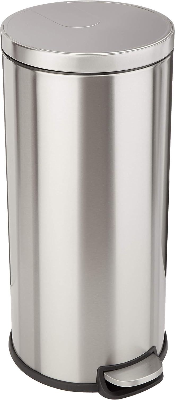 Amazon Basics 30 Liter 7.9 Gallon Popularity Round Indianapolis Mall Soft-Close Trash w Can