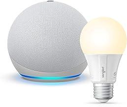 All-new Echo Dot (4th Gen) - Glacier White - bundle with Sengled Bluetooth bulb