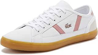 Lacoste Sideline 319 1 Womens White/Pink Trainers