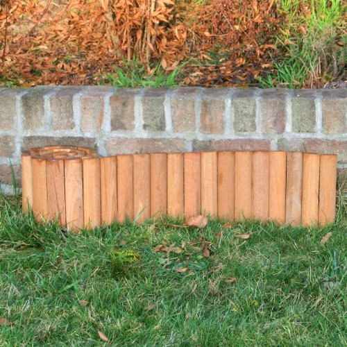 ROG garden-line 180 x 20 cm : BANGKIRAI ROLLBOARDER HARTHOLZ BEETUMRANDUNG RASENKANTE = 9,17 EUR/m