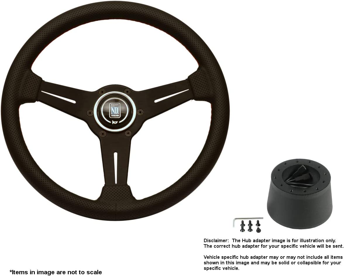 Nardi Classic 330mm 12.99 Inches Leather w Wheel Steering Limited price sale Blac unisex