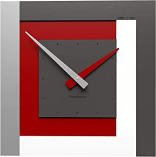 CalleaDesign - Clock40 Ruby - Stripes Collection
