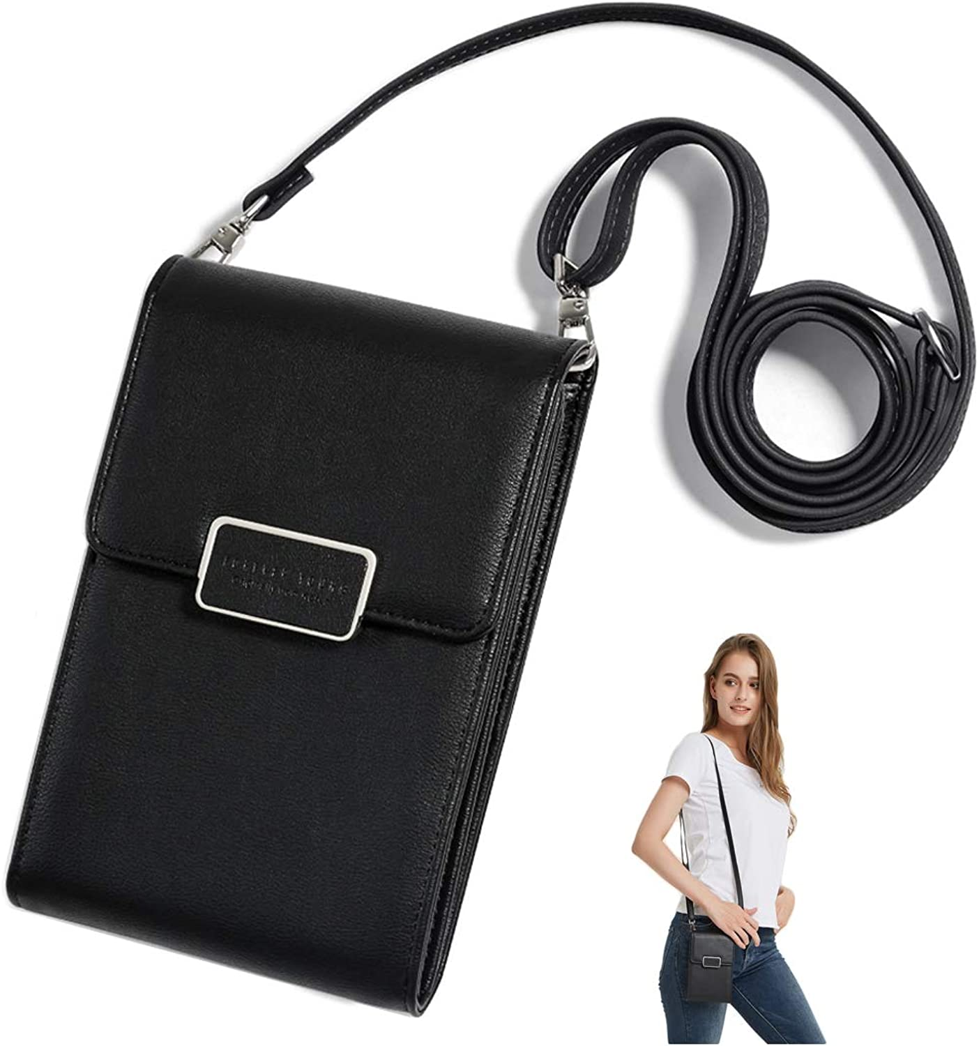 SINIANL Crossbody Bag Handbag Clutch Mini Cell Phone Pocket Pouch Purse Wallet Credit Card Holder for Girls Women