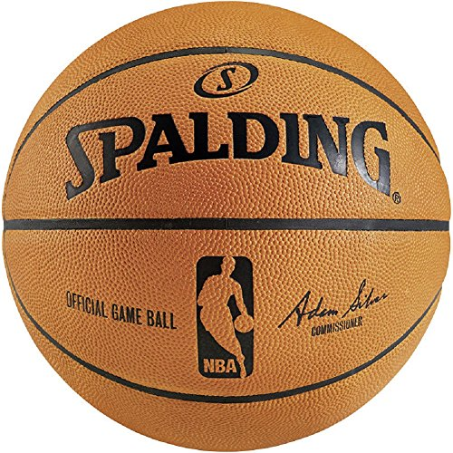 Spalding NBA Game Ball Replica - Pallone da basket, Colore: arancione., 7