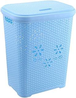 GCX Panier de rangement pratique pour salle de bain, panier de rangement pour vêtements sales, seau de rangement robuste (...