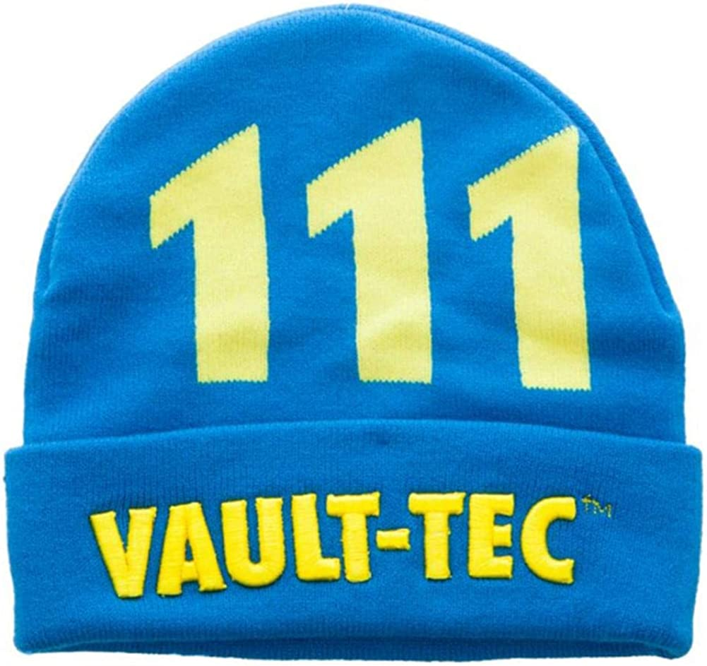 Fallout Vault-Tec Cuffed Knit Beanie Blue