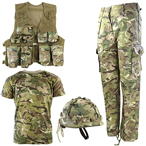 Kombat UK Armee-Set für Kinder, BTP, No1 7-8 Jahre British Terrain Pattern