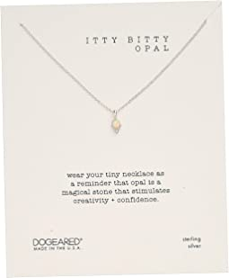 Itty Bitty Opal, Dotted Bezal Opal Necklace