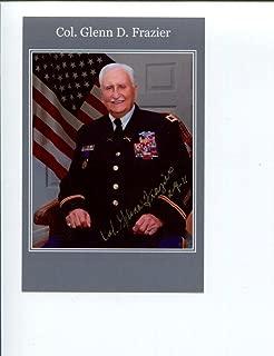 Glenn Frazier WWII War Bataan Death March Survivor Signed Autograph Photo