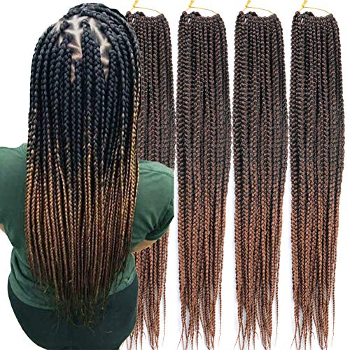 6 Packs/Lot (14/18/24/30) inch 1cm 20 Strands/Pack Thin 3X Box Braid...