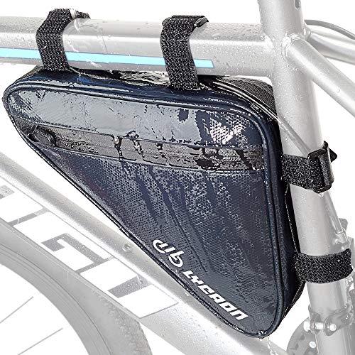 LYCAON Triangle - Bolsa para cuadro de bicicleta, impermeable, reflectante, para manillar de bicicleta, con correa para el sillín