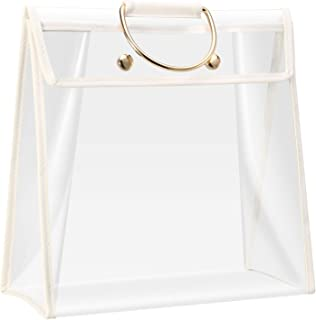 Clear Dust-proof Bag Transparent Dust Bag Organizer Purse Handbag Protector with Magnetic Snap, 4 Sizes Choices